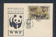 XC22002 Moldova 1993 WWF snakes animals reptiles FDC used