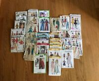 Lot of 30 Vintage 50's-90's Sewing Patterns McCalls Simplicity Girls Junior 7-14