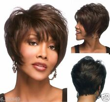 Women Short Natural African american Straight Fluffy Synthetic Hair Wigs NEW