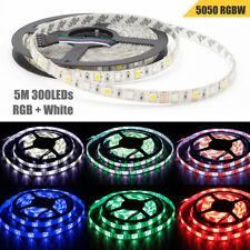 5M RGBW RGBWW 5050 LED Strip Light Tape 12V RGB+White /Warm White Cabinet Light