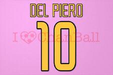 Del Piero #10 2003-2004 Juventus Homekit Nameset Printing
