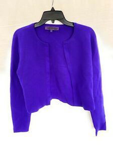Women's Polo Ralph Lauren Purple Label Shall Purple Wool Blend Large