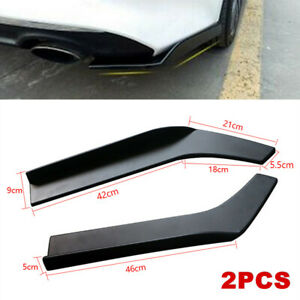 Universal Car Vehicle Bumper Spoiler Anti-crash Rear Lip Angle Splitter Diffuser
