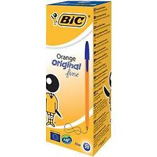 Bic Orange Original Fine Ballpoint Pen 0.8mm Tip 0.3mm Line (Blue) Pack of 20