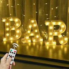 LED Marquee Letters Lights Bar Signs With Remote Control Letter Lamp Light up