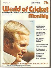 World of Cricket 1976 Tony Greig Ian Chappell Ted Dexter Bob Simpson Grace WC