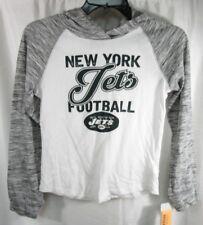 de745d4e98f Girls NFL Team Apparel New York Jets Long Sleeve Hooded Shirt Size L
