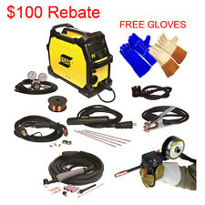 Combo - Spool Gun and ESAB Rebel EMP 215ic Welding Machine, TIG & Welding Gloves