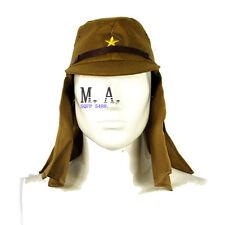 WW2 IJA Japanese Military Soldier Field Cap Havelock Neck Flap Wool Hat