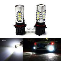 2x P13W PSX26W 12277 SH23W 8W LED Bulbs Sidelight Fog Light Lamp DRL Xenon White
