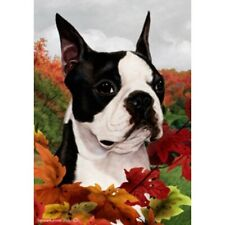 Roses Garden Flag Boston Terrier 190321