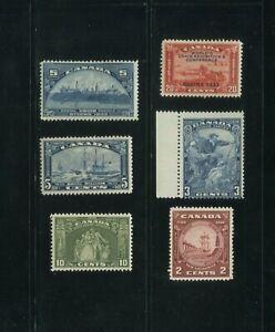 1933 Canada Postage Stamp #202-204 & 208-210 Mint F/VF Commemorative Set