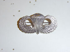 b7680 WW2 US Army PIR Paratrooper Airborne Jump Wings bright silver pin back R8B