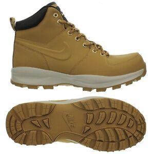 Nike Manoa Leather Beige Herren Stiefeletten Schuhe Boots Winterstiefel NEU