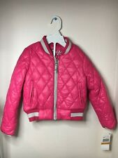 Michael Kors girl's puffer jacket  coat Raspberry  size 3T  NWT
