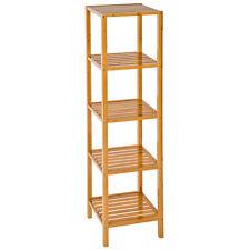 Estantería de madera bambú con 5 niveles para baño toallas librería organizador