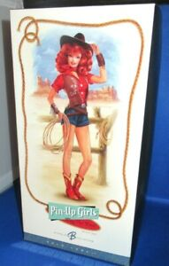 BARBIE GOLD LABEL PIN-UP GIRLS COLLECTION WAY OUT WEST BARBIE DOLL, NEW