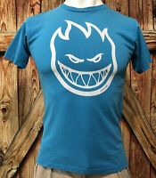 Spitfire Men's Medium Tshirt Skateboard Wheels Baby Blue Early 2000's Skate
