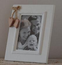 BILDERRAHMEN Herz Fotorahmen Landhaus Shabby Holzrahmen Foto 10 x 15 weiß Holz