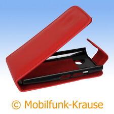 Flip Case Etui Handytasche Tasche Hülle f. Sony Xperia Miro (Rot)