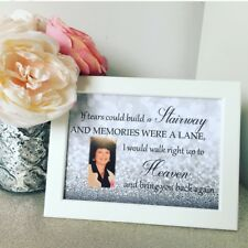 Personalised Memorial Remembrance Keepsake YOUR PHOTO Stairway to heaven Frame
