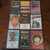 Bulk Lot 9 Cassette Tapes Pop Olivia Newton-John Smokie Neil Diamond 70's Hits