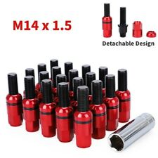 20pc for Mercedes Lug Bolts 14x1.5 Steel Wheel Bolt with Ball Caps Socket Wrench