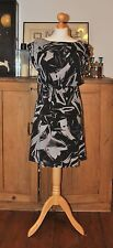 LADIES ALICE + OLIVIA SILK GRAY/BLACK DRESS SIZE S