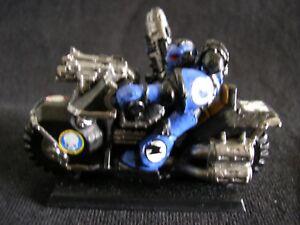 Unused Space Marine  biker rider with plasma gun Warhammer 40k