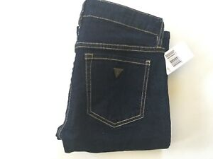 Guess da Donna Bootcut Vita Bassa Jeans Blu Indaco Super Stretch Jeans Taglia 27