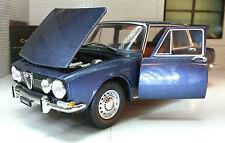 G LGB 1:24 Scale 1968 Alfa Romeo Berlina 1750 Blue Leo Whitebox Diecast Model