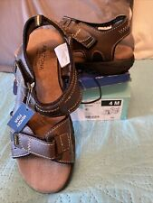 Arizona Jean Co. Boys Size 4 Brown Llewellyn Sandals Shoes
