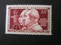 FRANCE, SCOTT # 771, 30fr. VALUE 1955 MOTION PICTURES INVENTORS ISSUE MVLH