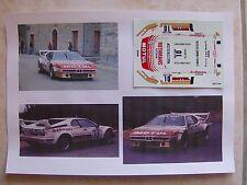 "BMW M1 TOUR DE CORSE 1982 BERNARD DARNICHE ""MOTUL"" DECALS VITESSE"