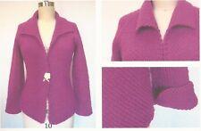 """PETRA Coco Knits Knitting Pattern cardigan / sweater jacket 34"""" - 43"""""""