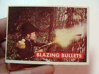 vintage1950's  DAVY CROCKETT CARD (green)--BLAZING BULLETS 17A great
