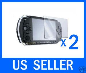 2 Sony PSP Protector Screen Film Skin Shield Lens US Seller 1000 2000 3000 lcd