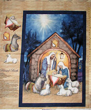 Blessed Birth Christmas Nativity Religious Baby Jesus Fabric 1 Yard Pnl CP58641