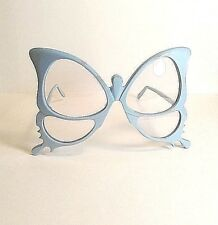 Vtg Rare Anglo American Optical Blue Butterfly Eyeglass Frame England Hand Made
