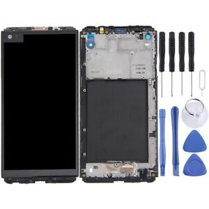 For LG V20 VS995 VS996 LCD Screen Touch Digitizer Glass With Frame BLACK