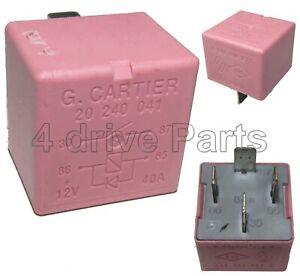 8200308271 Renault Clio Trafic Megane Vivaro Nissan 4-Pin Pink Relay 20240041