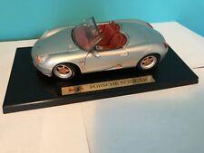 Maisto PORSCHE BOXTER 1/16? Scale Silver Metallic  Toy Roadster-Cabrio Car.