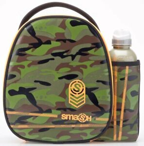 Smash Camo Lunch Bag and 500ml Bottle Set | Green Camouflage | Army Lunchbox
