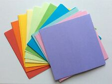 99 x Sheets Double Sided Origami Paper 15 x 15 cm in 10 Assorted Colours