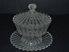 BACCARAT CRYSTAL FRANCE SUGAR OR JAM BOWL WITH UNDERPLATE MARKED