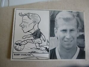 Footballer With Caricature Football Card Bobby Charlton Manchester United