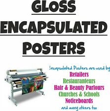 Gloss Laminated Poster Prints - Waterproof & Dustproof - Fully Sealed Posters