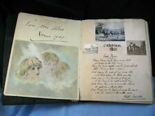More details for 1901 antique edwardian scrap sketch book diary journal painting art poetry wwi