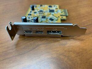 Dell PCIe Card I/O 2x USB3.1 1x DisplayPort DP In P/N UPD2018D0 0VJN4