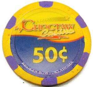 Choctaw Casino Broken Bow Oklahoma $0.50 Cent Multi-colored Regular House Chip